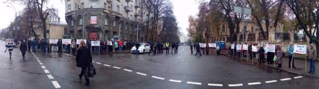 протест біля Адміністрації Порошенко